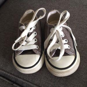 Dark gray toddler converse